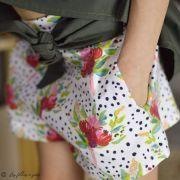 "Tissu jersey motif pois et fleurs ""Bloomsbury"" de Bari J - Blanc - Oekotex - AGF ® Art Gallery Fabrics ® - Tissus - 8"