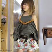 "Tissu jersey motif pois et fleurs ""Bloomsbury"" de Bari J - Blanc - Oekotex - AGF ® Art Gallery Fabrics ® - Tissus - 11"