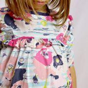 "Tissu popeline de coton motif coquelicots ""Skopelos"" - Blanc, bleu et rouge - OekoTex ® - AGF ® Art Gallery Fabrics ® - Tissus -"