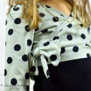 "Tissu jersey motif pois ""Polkadot Mint"" - Vert menthe et noir - Bio - Kimsa Design ® Kimsa Design ® - Tissus BIO - 6"