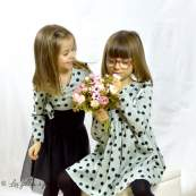 "Tissu jersey motif pois ""Polkadot Mint"" - Vert menthe et noir - Bio - Kimsa Design ® Kimsa Design ® - Tissus BIO - 7"