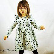 "Tissu jersey motif pois ""Polkadot Mint"" - Vert menthe et noir - Bio - Kimsa Design ® Kimsa Design ® - Tissus BIO - 9"