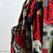 "Tissu coton motif tête mexicaine ""Nocturna"" - Noir et rouge - Henry Alexander ® Alexander HENRY Fabrics ® - Tissus - 7"