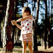 Tissu jersey motif rayure - Blanc, rose, rouge, vert et jaune Vintage In My Heart ® - 8