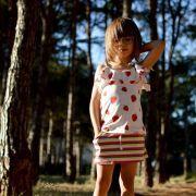 Tissu jersey motif rayure - Blanc, rose, rouge, vert et jaune Vintage In My Heart ® - 9