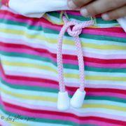 Tissu jersey motif rayure - Blanc, rose, rouge, vert et jaune Vintage In My Heart ® - 10