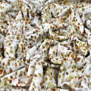 "Tissu french terry coton motif tâche ""Palette"" - Blanc et tons marrons - Oeko-Tex ® Family Fabrics ® - Tissus oekotex - 4"