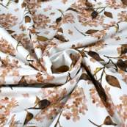 "Tissu french terry coton motif fleur ""Hortensia"" - Blanc et tons roses - Oeko-Tex ® Family Fabrics ® - 4"