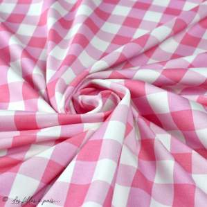 "Tissu jersey coton vichy ""Boxes Pink"" - Vintage In My Heart - Oeko-Tex ® Vintage In My Heart ® - 2"