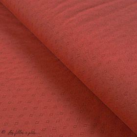 "Tissu jersey maille ajourée ""maille pointelle"" - Oeko-Tex ® Autres marques - 1"