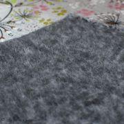 Tissu jersey digital coton motif fleur - Gris chiné, rose et blanc - Oekotex Autres marques - 5
