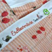 "Tissu jersey coton motif souris ""Erbeermäuse"" - Saumon, gris et rouge - Bio - Lillestoff ® Lillestoff ® - 5"