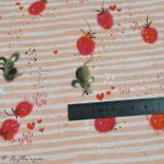 "Tissu jersey coton motif souris ""Erbeermäuse"" - Saumon, gris et rouge - Bio - Lillestoff ® Lillestoff ® - 9"
