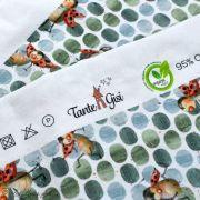 """Tissu jersey coton motif coccinelle """"Marinies"""" - Blanc, vert et rouge - Bio - Lillestoff ® Lillestoff ® - Tissus Bio - 7"""