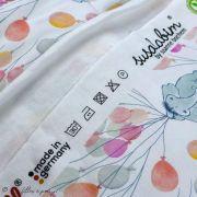 """Tissu jersey coton motif animaux volant """"Fliegende Tiere"""" - Blanc, rose et vert - Bio - Lillestoff ® Lillestoff ® - 7"""