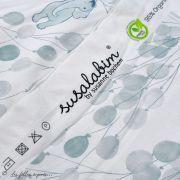 """Tissu jersey coton motif animaux volant """"Fliegende Tiere"""" - Blanc et bleu - Bio - Lillestoff ® Lillestoff ® - Tissus Bio - 5"""