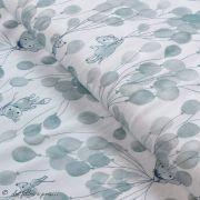 """Tissu jersey coton motif animaux volant """"Fliegende Tiere"""" - Blanc et bleu - Bio - Lillestoff ® Lillestoff ® - Tissus Bio - 1"""