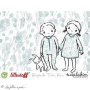 """Tissu jersey coton motif animaux volant """"Fliegende Tiere"""" - Blanc et bleu - Bio - Lillestoff ® Lillestoff ® - Tissus Bio - 11"""