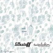 """Tissu jersey coton motif animaux volant """"Fliegende Tiere"""" - Blanc et bleu - Bio - Lillestoff ® Lillestoff ® - Tissus Bio - 12"""