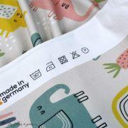 "Tissu jersey coton motif éléphants ""Elephants"" - Gris, jaune, vert et rose - Bio - Lillestoff ® Lillestoff ® - 6"