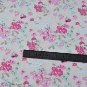 "Tissu coton motif fleurs ""Le Vintage Chic"" - Ecru et rose - Oekotex - AGF ® Art Gallery Fabrics ® - 4"
