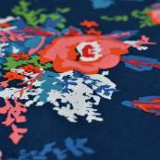 "Tissu coton motif fleurs ""Everlasting"" - Bleu marine et rouge - Oekotex - AGF ® Art Gallery Fabrics ® - 3"