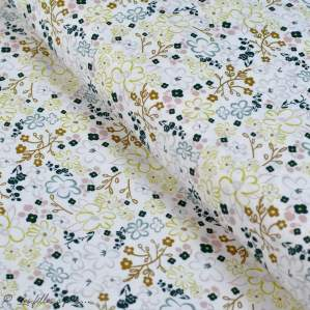 "Tissu coton motif fleurs ""Sparkler Fusion"" - Ecru - Oekotex - AGF ® Art Gallery Fabrics ® - Tissus - 1"
