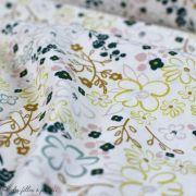 "Tissu coton motif fleurs ""Sparkler Fusion"" - Ecru - Oekotex - AGF ® Art Gallery Fabrics ® - Tissus - 3"
