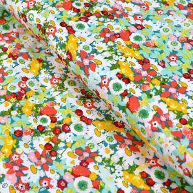 "Tissu coton motif fleurs ""Lavish"" esprit Liberty - Multicolore - Oekotex - AGF ® Art Gallery Fabrics ® - 1"