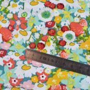 "Tissu coton motif fleurs ""Lavish"" esprit Liberty - Multicolore - Oekotex - AGF ® Art Gallery Fabrics ® - Tissus - 5"