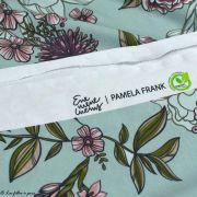 "Tissu jersey de viscose fleur ""Selma"" - Vert menthe et rose - Lillestoff ® Lillestoff ® - 4"