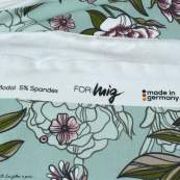 "Tissu jersey de viscose fleur ""Selma"" - Vert menthe et rose - Lillestoff ® Lillestoff ® - 7"