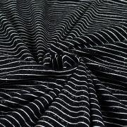 Tissu jersey motif rayures - Noir et blanc - Oeko-Tex ® - Stenzo Textiles ® Stenzo Textiles ® - 5