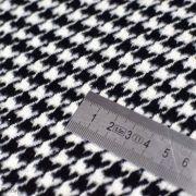 Tissu manteau motif pied de poule - Blanc et noir Autres marques - 5