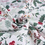 Tissu linge de table motifs de Noël - Blanc et multicolore - Oeko-Tex ® et GOTS ® Autres marques - Tissus et mercerie - 4