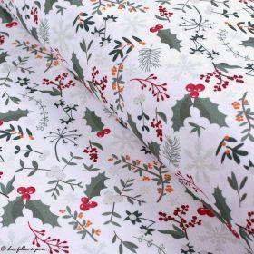 Tissu linge de table motifs de Noël - Blanc et multicolore - Oeko-Tex ® et GOTS ® Autres marques - Tissus et mercerie - 1