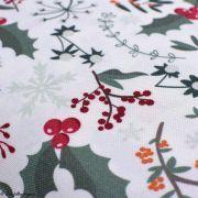 Tissu linge de table motifs de Noël - Blanc et multicolore - Oeko-Tex ® et GOTS ® Autres marques - Tissus et mercerie - 2