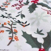 Tissu linge de table motifs de Noël - Blanc et multicolore - Oeko-Tex ® et GOTS ® Autres marques - Tissus et mercerie - 3