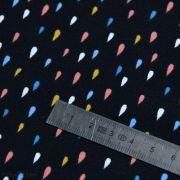 Tissu jersey motif gouttelette - Noir et multicolore - Oeko-Tex ® - Stenzo Textiles ® Stenzo Textiles ® - Tissus Oekotex - 6