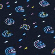 Tissu jersey motif arc-en-ciel - Noir et multicolore - Oeko-Tex ® - Stenzo Textiles ® Stenzo Textiles ® - Tissus Oekotex - 4