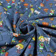 Tissu jersey coton motif sport - Gris foncé et multicolore - Oeko-Tex ® Autres marques - 2