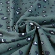 Tissu french terry coton motif léopard - Vert - Oeko-Tex et GOTS ® Autres marques - 2