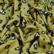 Tissu french terry coton motif léopard - Ocre - Oeko-Tex et GOTS ® Autres marques - Tissus et mercerie - 5