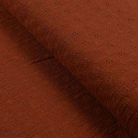 Tissu double gaze brodée de coton - Oekotex ® Autres marques - Tissus et mercerie - 1