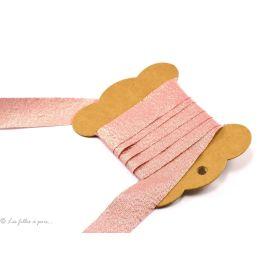 Biais Lurex - Rose saumon - 20mm