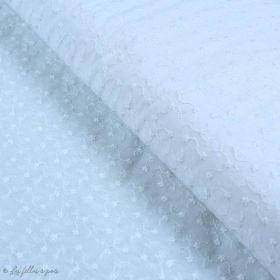 Tissu coton Broderie anglaise motif texturé - Blanc Autres marques - 1