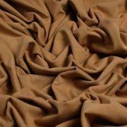 "Tissu jersey coton ""Camel"" - Caramel - Oeko-Tex ® Family Fabrics ® - Tissus oekotex - 4"