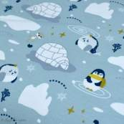 Tissu jersey coton motif pingouin - Vert menthe et bleu - Oeko-Tex ® et GOTS ® Autres marques - 3