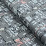 "Tissu jersey ""Heart Melodies"" - Gris - AGF ® Art Gallery Fabrics ® - 1"