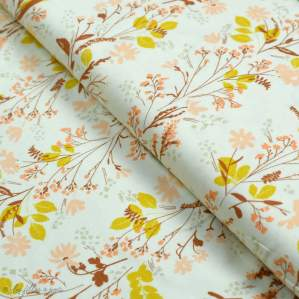 "Tissu jersey motif fleur ""The Open Road"" - Ocre et terracotta - Oekotex - AGF ® Art Gallery Fabrics ® - 1"